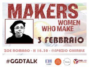 Whomen who make! #GGDTalk con Zoe Romano @ Spazio Chirale   Roma   Lazio   Italia